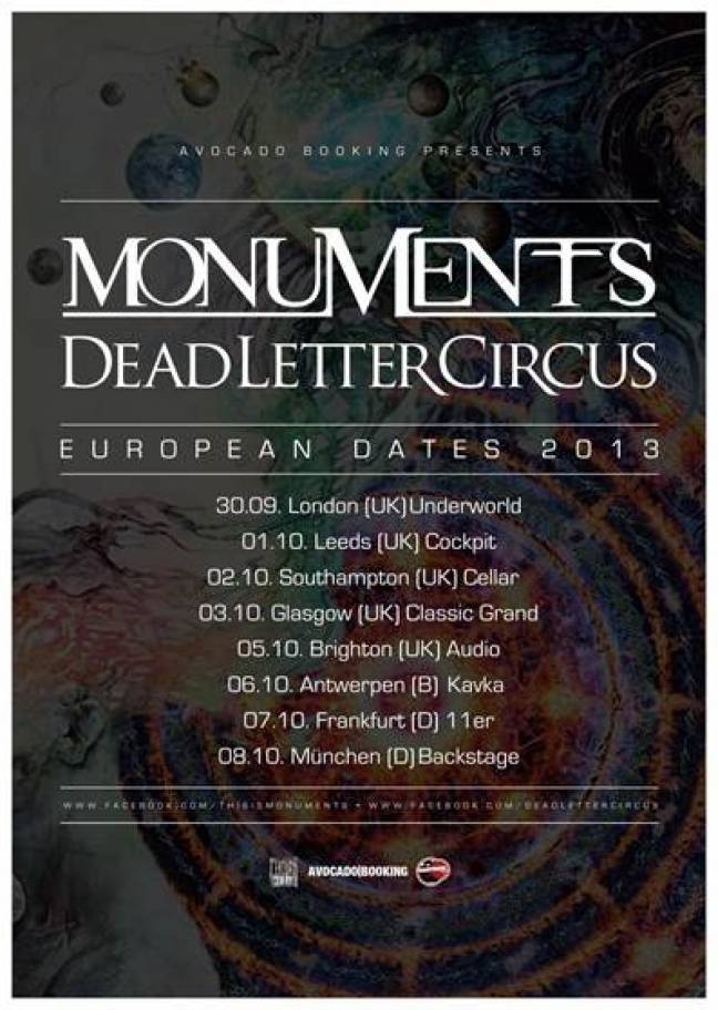 MONUMENTS - kündigen Co-Headliningtournee an